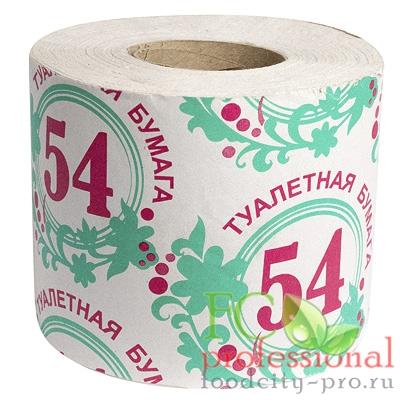 Туалетная бумага     1-сл 1 рул/уп 54 м стандарт СЕРАЯ   1/40
