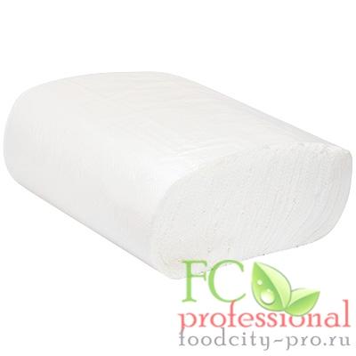 Бумажное листовое полотенце     230х230 мм 2-сл 150 лист/уп Z-сложения БЕЛОЕ   1/20
