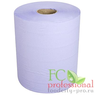 Бумажный материал протирочный     Н280хD235 мм 2-сл 350 м в рулоне СИНИЙ   1/2