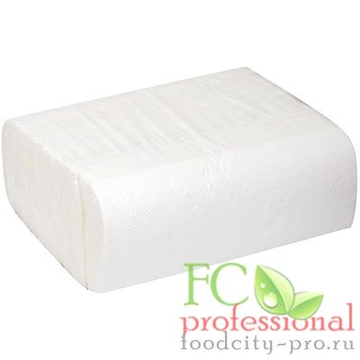 Бумажное листовое полотенце     230х230 мм 2-сл 200 лист/уп Z-сложения БЕЛОЕ   1/20