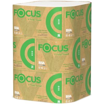 Полотенце бумажное листовое   1-сл 200 лист/уп 230х210 мм V-сложения FOCUS ECO БЕЛОЕ   ''HAYAT''   1/15