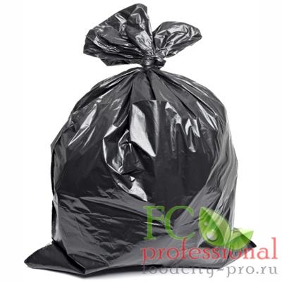 Мусорный мешок (пакет)     180л 900х1100 мм 30 мкм в пластах ПВД ЧЕРНЫЙ   1/50/200