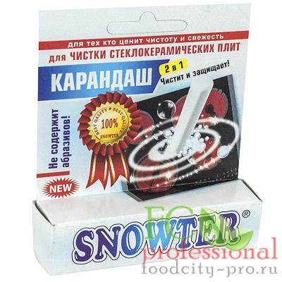 Для стеклокерамических плит средство чистящее     1 шт/уп SNOWTER карандаш   1/48
