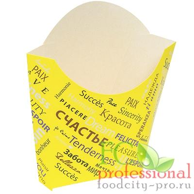 Для картофеля фри упаковка     ДхШхВ 68х32х100 мм с дизайном FIESTA КАРТОННАЯ   ''PPS''   1/500