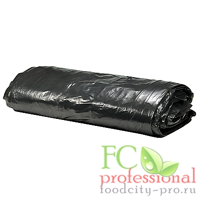 Мусорный мешок (пакет)     120л 700х1100 мм 40 мкм в пластах ПВД ЧЕРНЫЙ   1/50/200