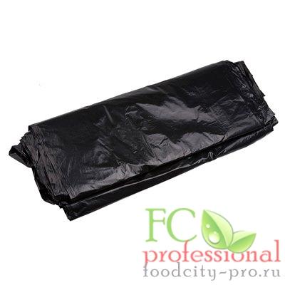 Мусорный мешок (пакет)     220л 880х1250 мм 50 мкм в пластах ПВД ЧЕРНЫЙ   1/50/200
