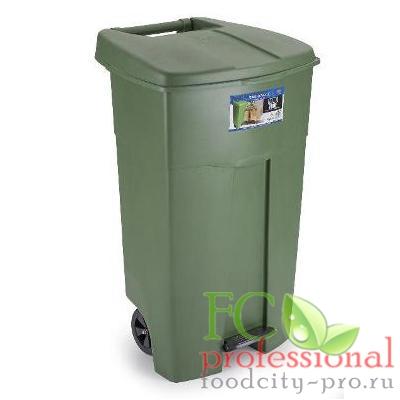 Прямоугольный бак мусорный     125л ДхШхВ 580х500х900 мм УЦЕНКА (треснут корпус, нет ручки) на колесах