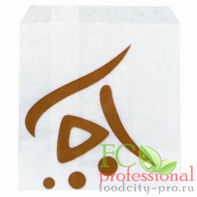 Бумажный пакет     ДхВ 93х118 мм жиростойкий для картофеля фри с печатью WHIZZ с плоским дном БЕЛЫЙ