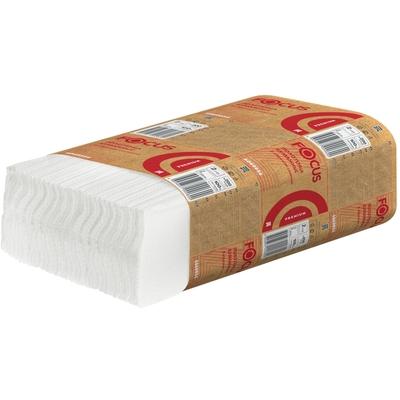 Полотенце бумажное листовое   2-сл 200 лист/уп 200х240 мм Z-сложения FOCUS EXTRA БЕЛОЕ   ''HAYAT''   1/12